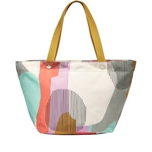 Fossil Key Per EW East West Abstract Beach Tote
